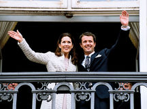 CROWN PRINCESS MARY & CROWN PRINCE FREDERIK Stock Photography