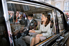 CROWN PRINCESS MARY & CROWN PRINCE FREDERIK Royalty Free Stock Photo