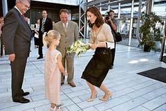 CROWN PRINCESS MARY AT FASHION WEEK Royalty Free Stock Photo