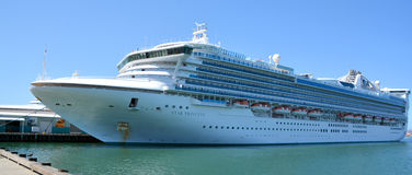 Crown Princess. SAN DIEGO CA USA APRIL 07 2015: Crown Princess is a Grand-class cruise ship owned and operated by Princess Cruises. he ship godmother is Martha stock photography