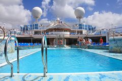 Crown Princess ship deck Royalty Free Stock Photo