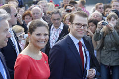 Crown princess Victoria of Sweden with husband Dan Royalty Free Stock Images