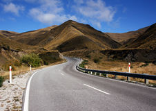 The Crown Range New Zealand Royalty Free Stock Photos