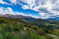 Crown Range Road, New Zealand Royalty Free Stock Photos