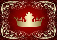 Crown on a red background Stock Image