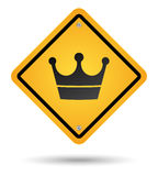 Crown road sign Stock Photo