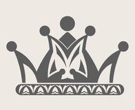 Crown royal diadem or heraldic tiara with pattern ornament vector isolated icon Stock Photo