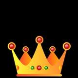 Crown royal queen  king symbol emperor icon stones gold lo. Go Stock Photography