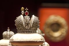 Crown of the Russian Empire`s Faberge Hermitage Royalty Free Stock Photos