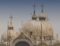 Crown of San Marco. Crowning domes of San Marco church in Venice, Italy Stock Image