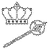 Crown and scepter Royalty Free Stock Images