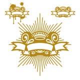 crown scrollen royaltyfri illustrationer