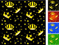 Crown seamless pattern Royalty Free Stock Images