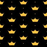 Crown Seamless Pattern Background公主传染媒介例证 库存例证