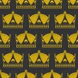 Crown seamless pattern. emperor Royal texture.  Royalty Free Stock Photos