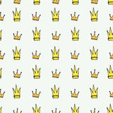 Crown seamless pattern Stock Photography
