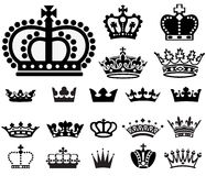 Crown Set 2 Royalty Free Stock Images
