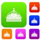 Crown set collection Royalty Free Stock Image