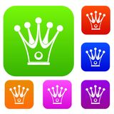 Crown set color collection Stock Images