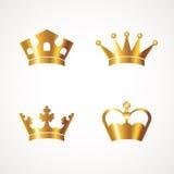 Crown set Stock Photo