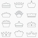 Crown set Royalty Free Stock Images