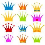 Crown set prince or princess clipart Stock Photo