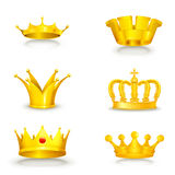 Crown set on white Stock Photos