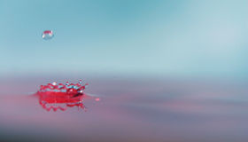 Crown Shaped Splash. From a water drop royalty free stock image