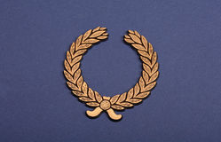 Crown shield Isolated on Blue Background.  Stock Photography