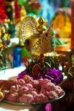 Crown of Shiva. Hindu Festival at the Sri Maha Mariamman Indian Temple on Silom Road, Bangkok, Thailand Royalty Free Stock Photos