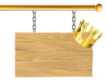 Crown sign Royalty Free Stock Images