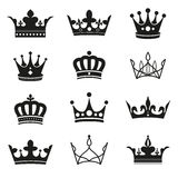 Crown silhouette set Royalty Free Stock Photography