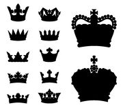 Crown silhouettes Stock Images