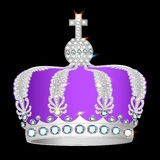 Crown of silver platinum and precious stones Royalty Free Stock Photos