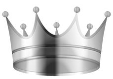 Crown silver Royalty Free Stock Images