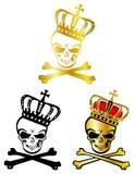 crown skallen stock illustrationer