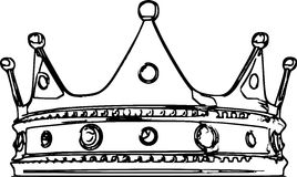 Crown Sketch Illustration Stock Photo