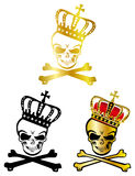 Crown skull Royalty Free Stock Images