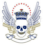 Crown skull emblem Stock Photo