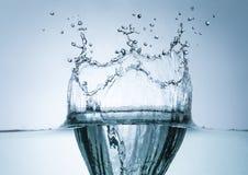 Crown splash. A beautiful crown shaped water splash Stock Images