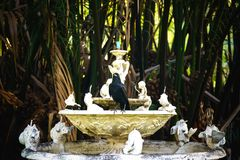 The crown stands on a fountain base. royalty free stock image