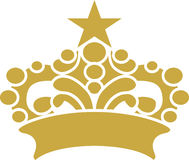 Crown with Star Design Graphic Vector Art. Created in Adobe Illustrator in EPS format for use in web and print Stock Images