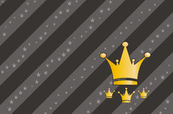Crown style background. Background wallpaper crown style gold Royalty Free Stock Photo