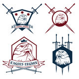 Crown and swords crests collection Royalty Free Stock Photography