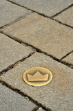 Crown symbol in Bratislava Stock Images