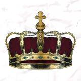Crown symbol sketch. Royalty Free Stock Images