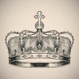 Crown symbol sketch. Royalty Free Stock Image