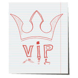 The crown is a symbol of VIP class hand-drawn. For the design attached to the hotel Stock Images