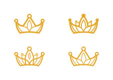 Crown symbols Stock Photos