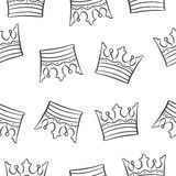 Crown theme design pattern collection Royalty Free Stock Images